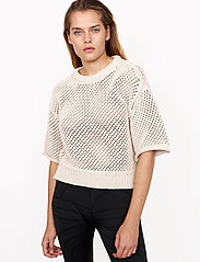 Second Female - Domino Knit - strikkede toppe - natural - 0