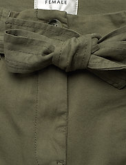Second Female - Terry Trousers - casual byxor - olive night - 2