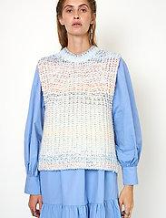 Second Female - Elsa Knit Vest - stickade västar - brunnera blue - 3