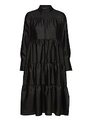 Rosalina Midi Dress - BLACK