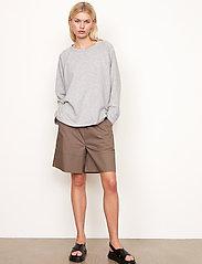Second Female - Osaka Sweat - sweatshirts - grey melange - 7