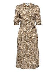 Granada Wrap Dress - BRONZE BROWN