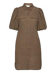Bilbao Mini Dress - STONE GREEN