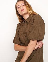 Second Female - Bilbao Mini Dress - sommarklänningar - stone green - 5