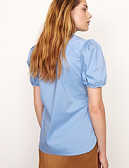 Second Female - Glasgow Shirt - kortärmade skjortor - bel air blue - 4