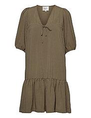 Tara Dress - STONE GREEN