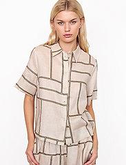 Second Female - Laval Shirt - kortärmade skjortor - parchment - 0