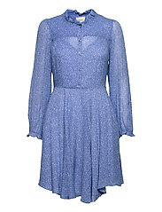 Mano Plisee Dress - BLUE BONNET