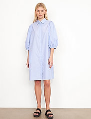 Second Female - Moscow Dress - vardagsklänningar - bel air blue - 0