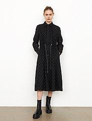 Second Female - Thelma Dress - spetsklänningar - black - 0