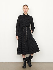 Second Female - Thelma Dress - spetsklänningar - black - 4