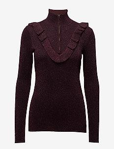 Idal Knit T-neck - polotröjor - port royale