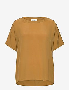 Tonga Silk Top - t-shirts - bistre