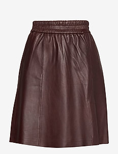Melvin Leather Skirt - PORT ROYALE