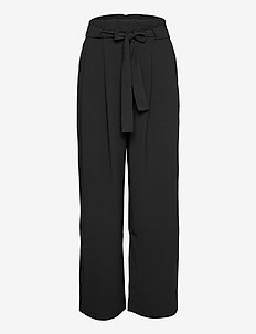 Yasemin Long Trousers - uitlopende broeken - black