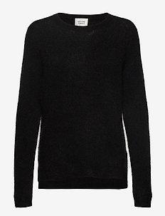 Brook Knit New O-Neck - BLACK