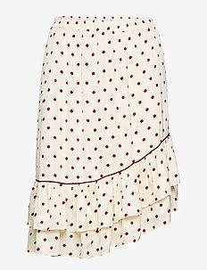 Davina Skirt - spódnice do kolan i midi - cabernet