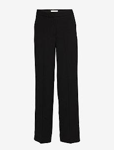 Nima Trousers - bukser med lige ben - black