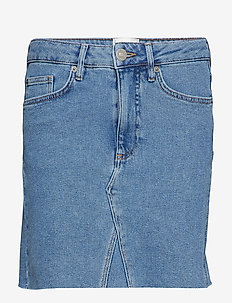 Sille MW Skirt - BLUE DENIM