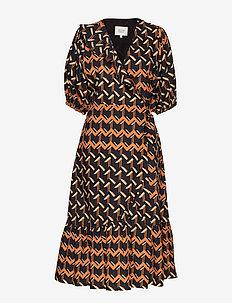River SS Midi Dress - CHOCOLATE FONDANT