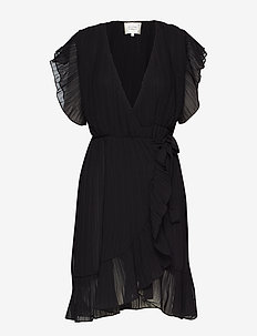 Mounce Wrap Dress - BLACK