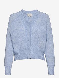 Brook Knit Boxy Cardigan - koftor - brunnera blue