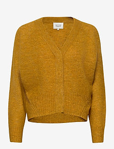 This cardigan with deep V-neck is made from a soft  mohair-w - gensere - mango mojito