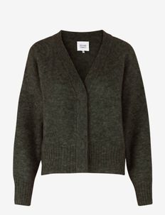 This cardigan with deep V-neck is made from a soft  mohair-w - gensere - sea turtle
