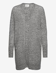 Brook Knit Cape - cardigans - grey melange