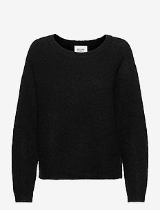 Brook Knit O-Neck - tröjor - black