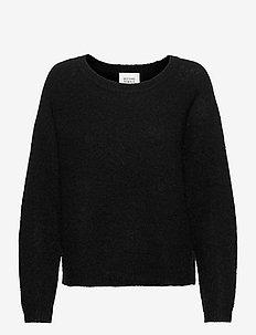 Brook Knit New Loose O-Neck - gensere - black