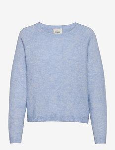 Brook Knit O-Neck - trøjer - brunnera blue