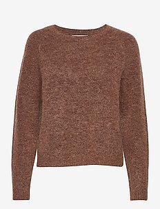 Brook Knit O-Neck - trøjer - copper brown