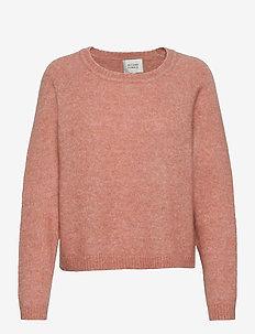 Brook Knit O-Neck - tröjor - light mahagony