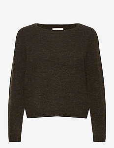 This knit is made from a soft mohair and wool blen d and has - swetry - sea turtle