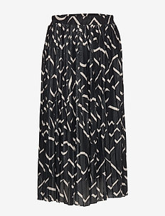 Letters Midi Skirt - BLACK