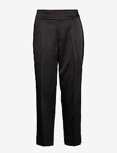 This elegant trousers are made from a luxurious po lyester s - bukser med lige ben - black