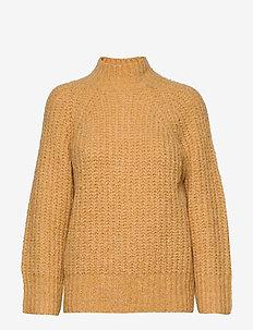 Canis Knit O-Neck - trøjer - golden rod