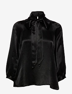 Moonlight LS Blouse - BLACK