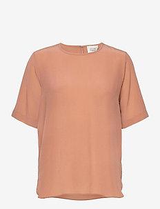 Tonga Silk SS T-Shirt - t-shirts - cafe au lait