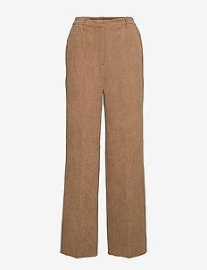 Gaia MW Trousers - bukser med brede ben - tiger`s eye