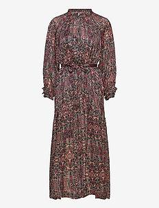 Signe SS Maxi Dress - midiklänningar - black