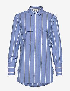 Tona LS Shirt - långärmade skjortor - chambray blue