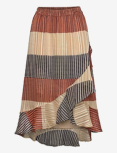 Board MW Wrap Skirt - midi skirts - apricot brandy