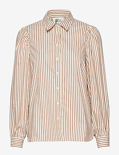 Kiara LS Shirt - långärmade skjortor - praline