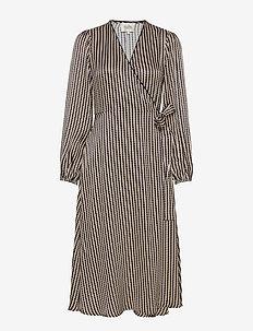 Ed LS Wrap Dress - omlottklänning - black