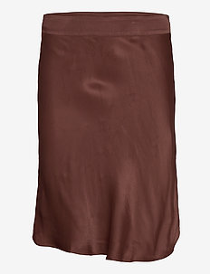Eddy MW Short Skirt - midi-röcke - carob brown