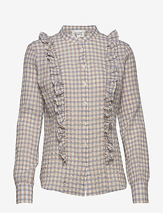 Mao LS Shirt - long sleeved blouses - pale iris