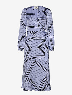 Isa LS Wrap Dress - PALE IRIS