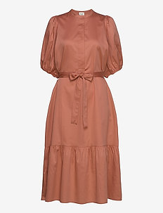 Aimee SS Midi Dress - midi kjoler - apricot brandy